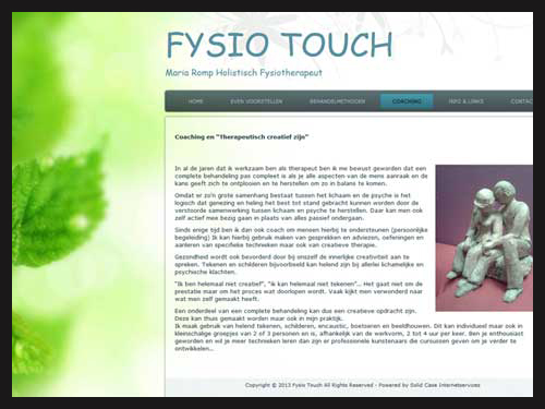 Website Fysio Touch